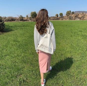 每日穿搭 少女心 春天