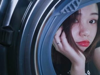 网红拍照法 洗衣机拍照