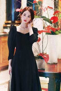 法式复古连衣裙