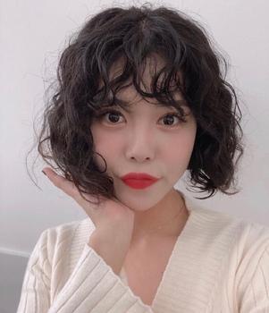 羊毛卷 根据脸型选发型